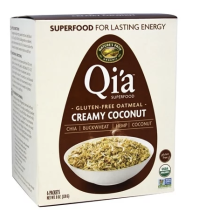 Qi'a Gluten Free Oatmeal - super satisfying with good for you ingredients