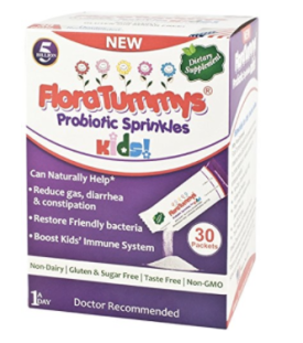 I swear by FloraTummys baby and kids' probiotic sprinkles. They are fully allergy free, tasteless and undetectable. Sprinkle them into milk, yogurt or applesauce daily for an immunity and digestion boost for your little one. We never miss a day